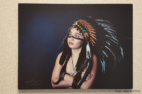 Portrait réalisé sur cadre photo aluminium mat