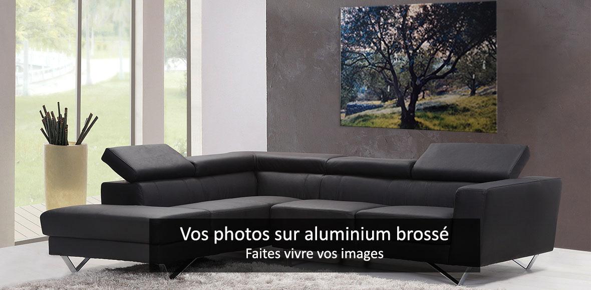 Impression sur aluminium brossé ChromaLuxe