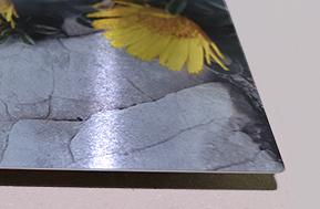 Photo sur aluminium brossé brillant