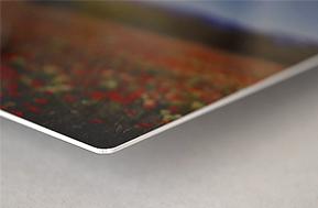 Photo sur aluminium brossé mat